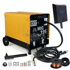 MIG195 Welder Flux Core Auto Wire Welding Machine Gas No Gas Mode With Wheels
