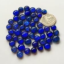 50 Beautiful  Dichroic Glass Cabochons  Perfect For Jewellery & PMC Crafting