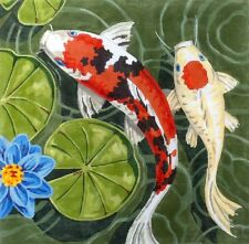 SP.ORDER ~Labors of Love LG. Oriental Koi Goldfish Pond #2 HP Needlepoint Canvas
