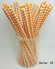 25 PCS Diamond Pattern Paper Straws Drinking Straws For Wedding Party Color 10
