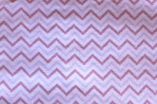 SNUGGLE FLANNEL-CHEVRON PATTERN-PINK on WHITE-100% Cotton Fabric *NEW* BTY