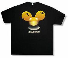 "DEADMAU5 ""CHEESEHEAD"" MOUSE HEAD LOGO BLACK T-SHIRT NEW ADULT OFFICIAL XS"
