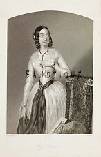 "Steel Engraving from ""HEATH'S BOOK OF BEAUTY"" - Miss. Sanders - 1844"