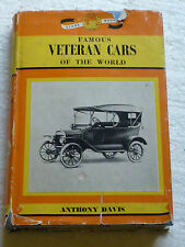 FAMOUS VETERAN CARS OF THE WORLD - ANTHONY DAVIS DONALD BARNES (GLOBE BOOK) 1963