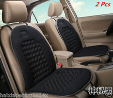 2 Pcs Car Seat Cushion Black Massage Therapy Lumbar Support Black Cushions Cover