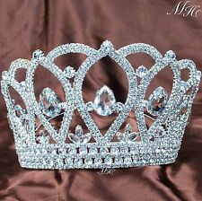 Royal Large Tiara Beauty Pageant Crown Rhinestone Bridal Headwear Party Costumes