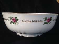 VINTAGE FRENCH SERVING FRUIT BOWL SHABBY CHIC FLORAL COUNTRY ST AMAND ORCHIES