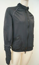 STELLA MCCARTNEY Adidas Black Long Sleeve Thumb Hole Cuffs Casual Jacket Sz38