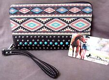 Native american style wallet made by Montana West - Navajo Weave Pattern M24