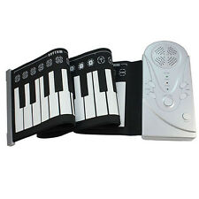 Portable 49 Keys Flexible Soft Roll Up Electronic Keyboard Piano Handscroll Gift