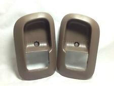 Pair Front, LH & RH, Door Handle Bezel Brown (oak) for 98-03 Toyota Sienna