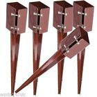 """Steel Fence Post Holder 750mm Spike Support Rust Resistant 75mm Metal Stakes 3"""""""