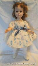 """Sweet Vintage 21"""" Hard Plastic & Vinyl Walker Doll Sleep Eyes Rooted Hair"""