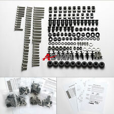 98PCS argent carénage Bolt Kit Screws visserie Honda VFR800 98-01
