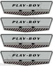 "Four Larson Play Boy Vintage Decals. 7""X2"" Each. OEM size"