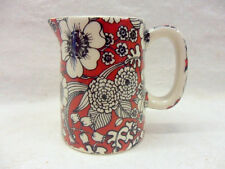 Red valensia chintz mini cream jug pitcher jug by Heron Cross Pottery