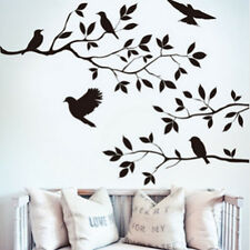 Fashion Black Bird Tree Branch Wall stickers Art Decal Removable Home Decor