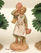 "FONTANINI DEPOSE ITALY RETIRED 2.5""JUDITH 1990 NATIVITY VILLAGE FIGURE 50156 NEW"