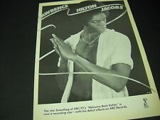 LAWRENCE HILTON JACOBS from SWEATHOG star to Recording Star 1978 PROMO POSTER AD
