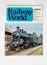 Back Issue Railway World Magazine: February 1973 Excellent Condition