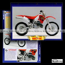 #047.12 Fiche Moto HONDA CR 500 R Modèle 2000 Cross Trail Bike Motorcycle Card
