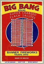 BIG BANG Firecrackers - Banner Fireworks / Toledo OHIO - POSTER 13x19""