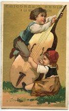 CHROMO / LA BELLE JARDINIERE PARIS / CHICOREE BERIOT / ENFANT MUSICIEN