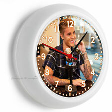 JUSTIN BIEBER SEXY INTERVIEW CUTE SMILE WALL CLOCK TEEN GIRL BEDROOM ROOM DECOR