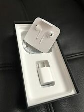 Apple iPhone 7 Earbuds W/adapter charger & Sync Cable