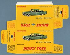 DINKY TOYS 545 : DE SOTO DIPLOMAT box repro boite reprobox refabrication copie