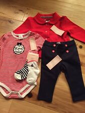 NWT Gymboree Baby Girl Sailor Boat 5-piece Outfit SET Jacket 6 9 12 Red
