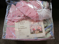Oshkosh baby girls 6-piece Strawberry Garden Bedding Crib Set Nursey Comforter