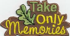 Girl Boy Cub TAKE ONLY MEMORIES woods Fun Patches Crest Badges SCOUT GUIDE leave