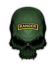 2 Ranger Skull Decal - Special Forces Skull Sticker Military USA Army ipad