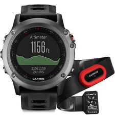 New Genuine Garmin Fenix 3 Performer Bundle with Heart Rate Monitor - Grey