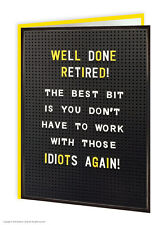 Brainbox Candy Retirement Greeting Card funny novelty cheeky joke humour retired