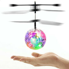 Flying RC Led Flashing Light Aircraft Helicopter Induction Remote Toy Sassy Gift