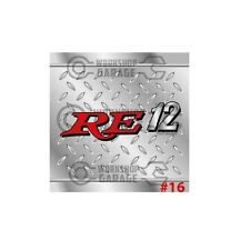 ROTARY STICKERS for RX2 RX3 RX4 RX7 RX8 R100 - CHECKER PLATE LOOK RE12 #16