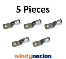 (5) 2 GAUGE 2 AWG X 3/8 in COPPER LUG BATTERY CABLE CONNECTOR TERMINAL MARINE