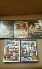 LOTE DE 5 JUEGOS PARA PLAY STATION 2 BROKEN SWOORD,GRAND THEFT AUTO (2) BUZZ ETC