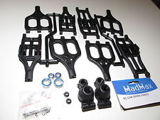 YY-MadMax Heavy Duty Nylon A-arms Traxxas T-maxx 2.5 3.3 E-maxx Full Set Black