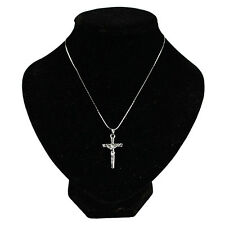 Fashion Christ Jesus Crucifix Silver Cross Necklace Chain Pendant Women Jewelry
