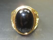 Blessed Original Black Metal Charm Leklai Gold Ring Top Power Magic Thai Amulets
