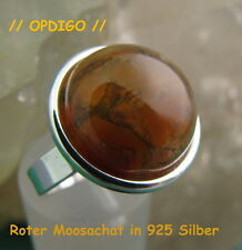 "Original Opdigo: Silberring mit  Moosachat     ""made in Idar-Oberstein"""