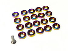 20PC NEO CHROME ENGINE DRESS UP 10MM WASHERS AND BOLTS KIT