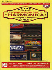 Method for Diatonic and Chromatic Harmonica Music Book & CD