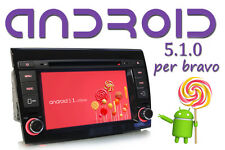 "Autoradio Fiat Bravo 2007-16 ANDROID 5.1 7"" QUADCORE 1.6 GHz USB Bluetooth"