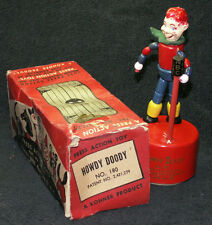 VINTAGE KOHNER PUSH PUPPET HOWDY DOODY with BOX TOY ORIGINAL NICE 1947 PATENT