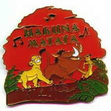 Simba Pumba Timon singing Hakuna Matata Authentic DISNEY Lion King Pin/Pins