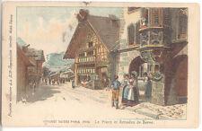 CPA EXPOSITION 1900 - VILLAGE SUISSE - PLACE ET ARCADES DE BERNE